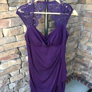 Xscape Purple Lace Dress